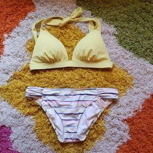 Victoria's Secret Banana Yellow Halter Bikini Top